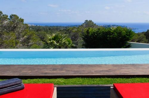Elegant newly built luxury villa with stunning panoramic view over the open sea up to Formentera
