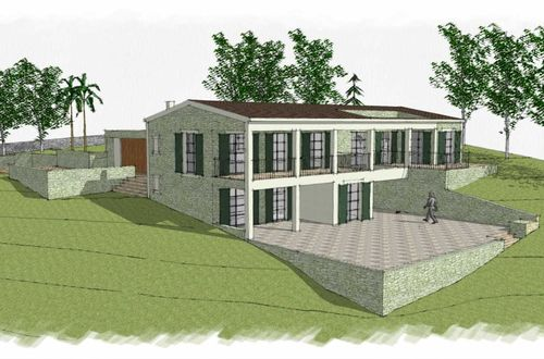 Project for a country house with complete privacy on an enormous plot