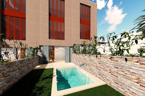 Construction project - modern townhouse right on the harbour of Port Andratx