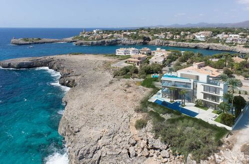 Construction project for a frontline duplex in Porto Cristo with private pool