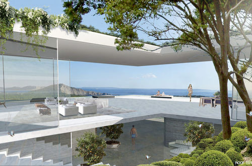Magnificent newly built luxury residence in exclusive location with superb view over the sea