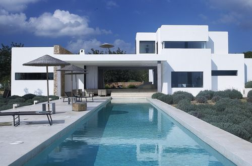 Modern villa in idyllic location with fantastic pool area and magnificent view over the landscape