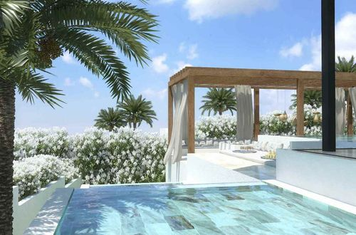 Exclusive construction project for a luxury villa with beautiful view over the landscape and sea