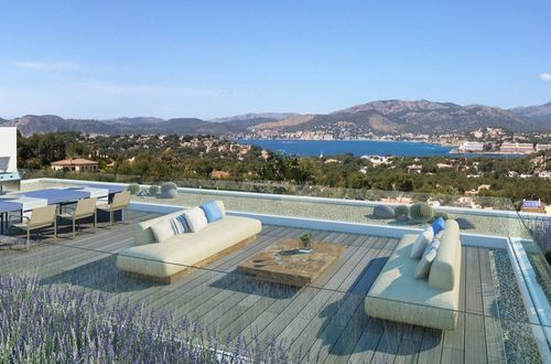 Exclusive newly built luxury residence with beautiful panoramic view over the mountains and the sea