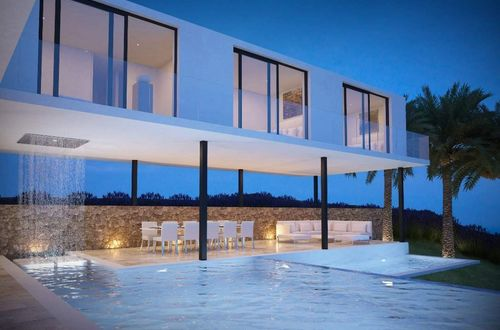 Superb construction project for a minimalist luxury villa with beautiful sea view