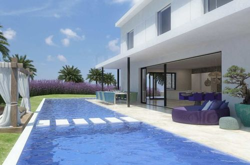 Exclusive construction project for a modern luxury villa with superb sea view
