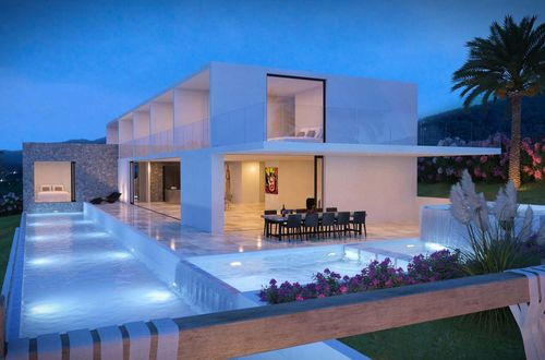 Superb residence close to Ibiza town with beautiful view over the sea